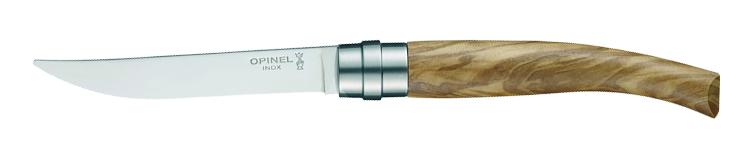 Opinel coltelli da bistecca 4 set legno di ulivo in for Coltelli da tavola opinel