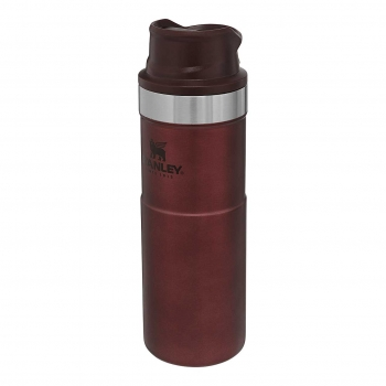Stanley CLASSIC TRIGGER-ACTION TRAVEL MUG, 0,473 l, Farbe Wine, vakuumisoliert, 18/8 Edelstahl, BPA-Frei