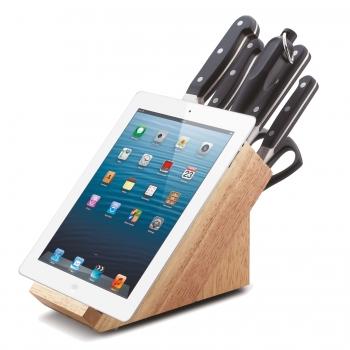 CS Kochsysteme Messerblock mit Tablet-Halter PREMIUM 8-teilig 003159